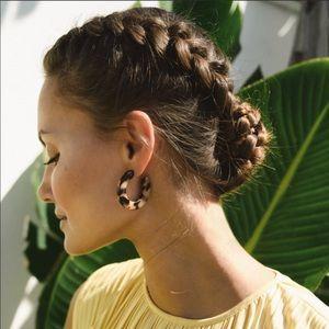 MACHETE Lucite Hoop Earrings in Blonde Tortoise
